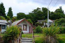 Wohnhäuser in Whakarewarewa