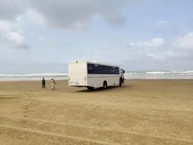 Busstop auf 90 Mile Beach