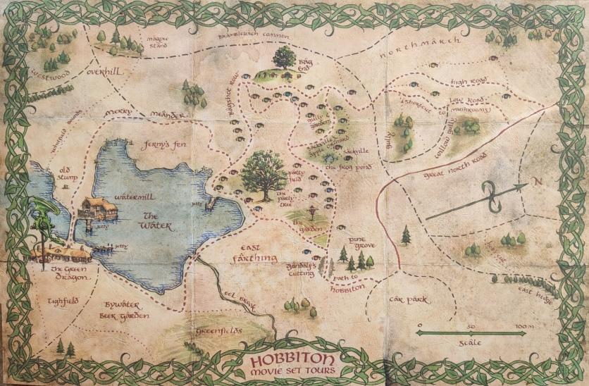 Karte Hobbiton Movie Set Tours