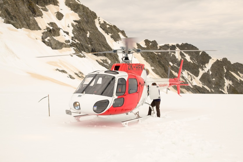 Helikopter auf Fox Glacier