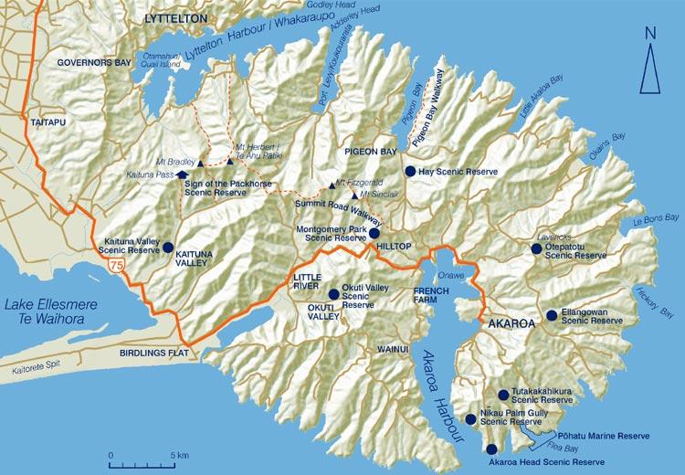 Banks-Peninsula-Map