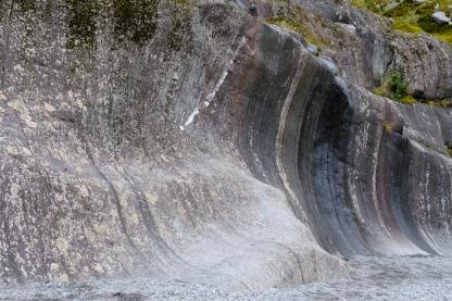 Felsen im Franz Josef Glacier Valley