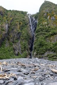 Wasserfall im Franz Josef Glacier Valley