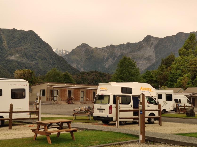 Lichtstimmung im Fox Glacier Top 10 Holiday Park