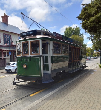 Historisches Tram in Christchurch