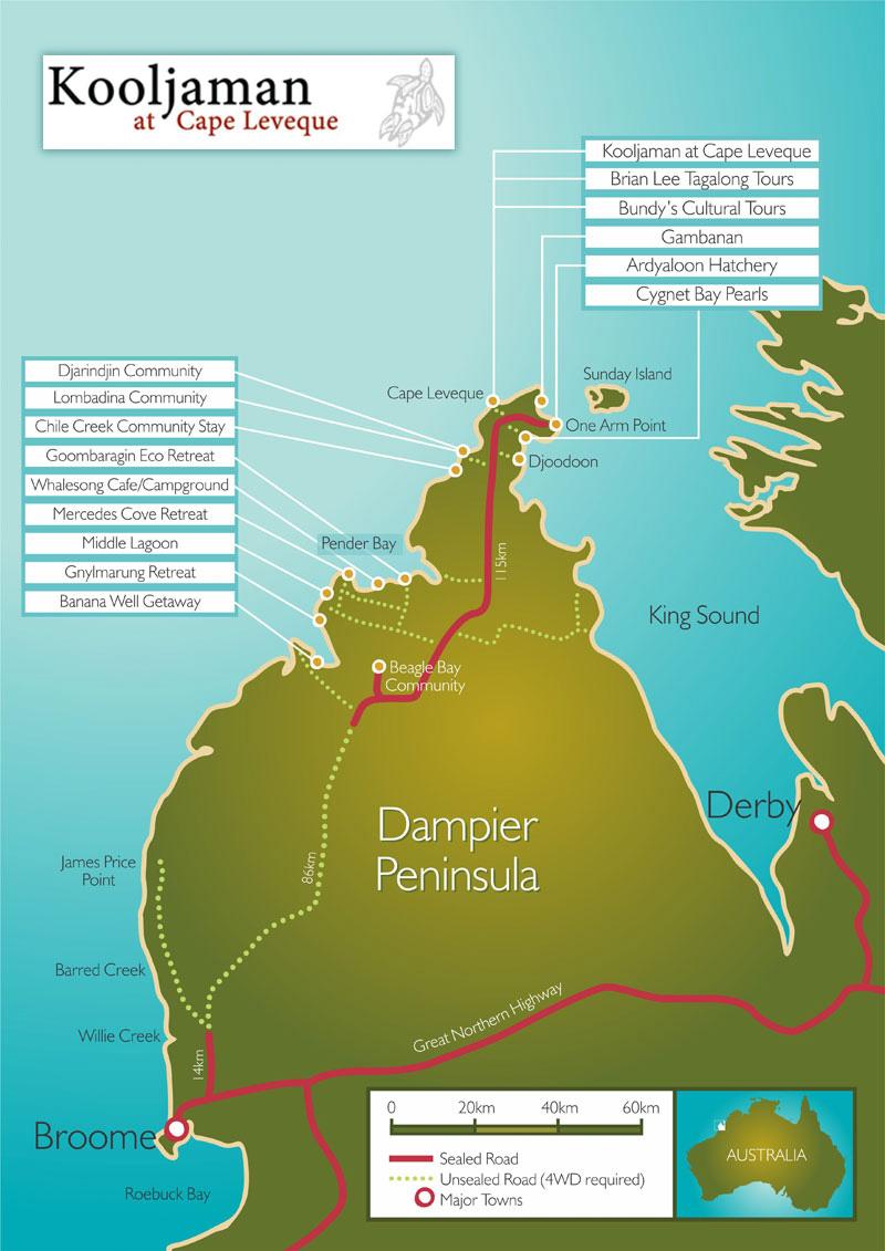 Dampier Peninsula Map