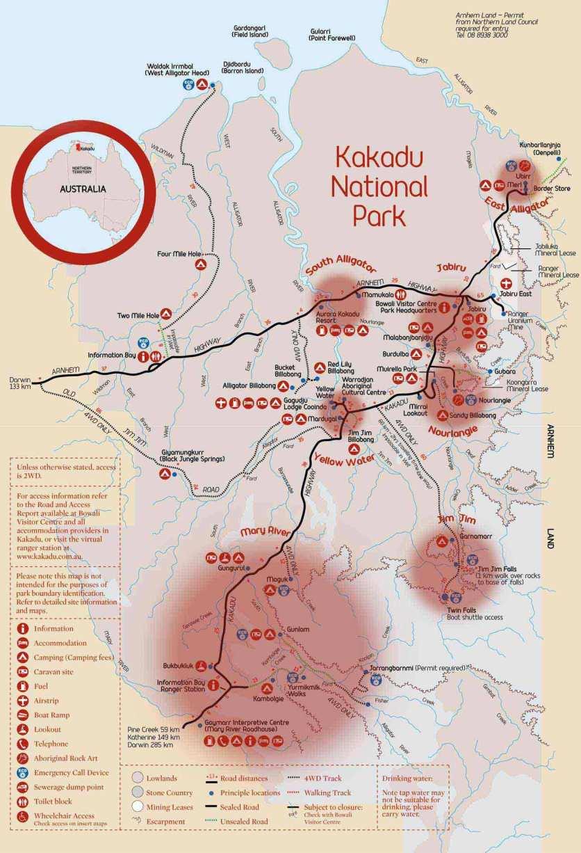 Kakadu NP Map