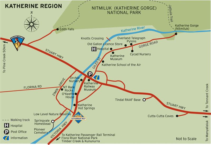 Katherine Region Map