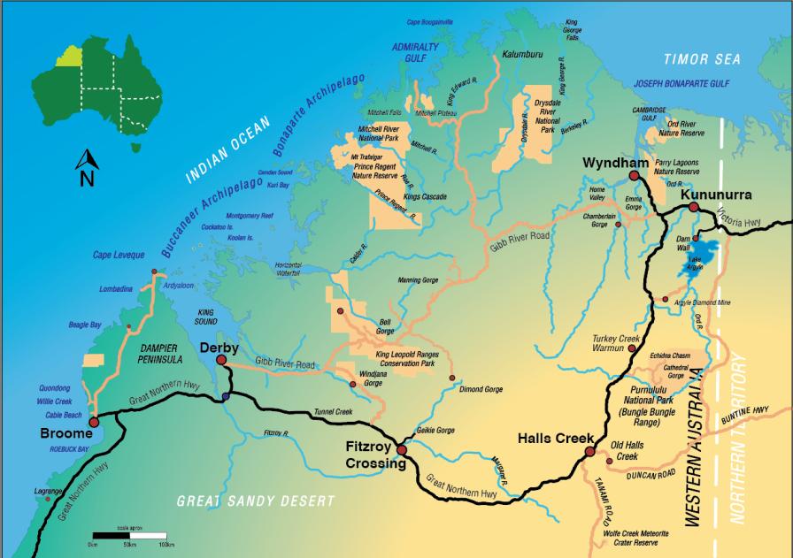 Kimberley Map