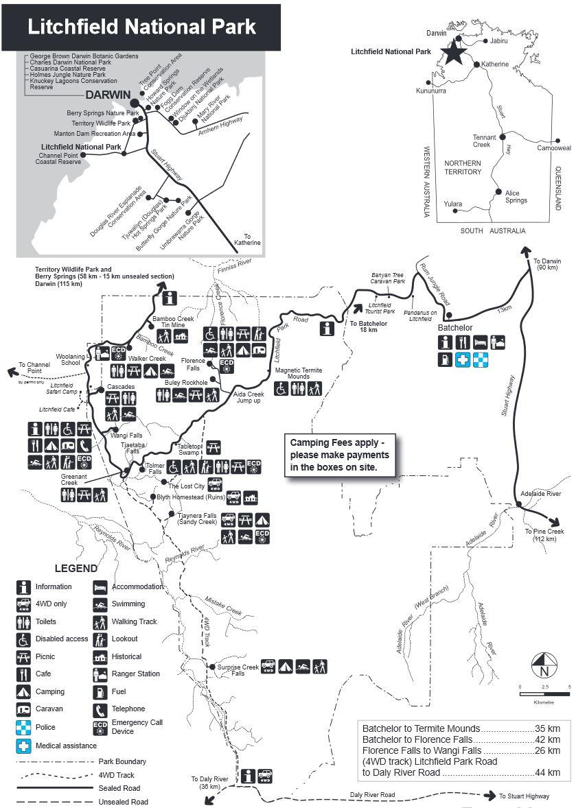 Litchfield NP Map