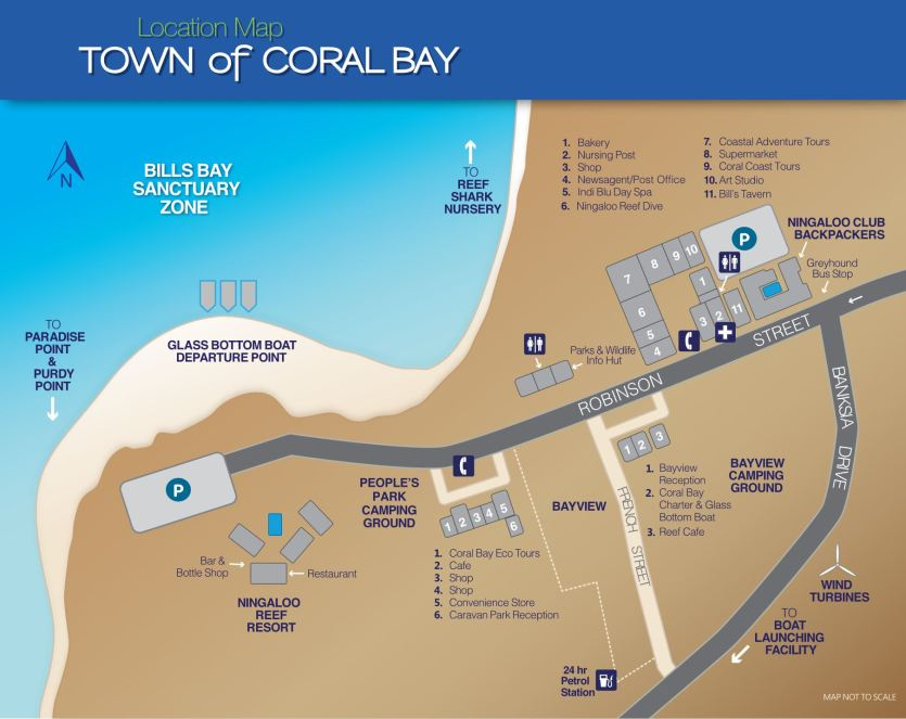 Coral Bay Town Map