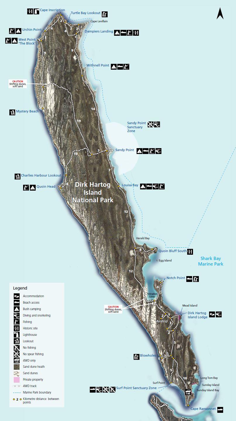 Dirk Hartog Island Map