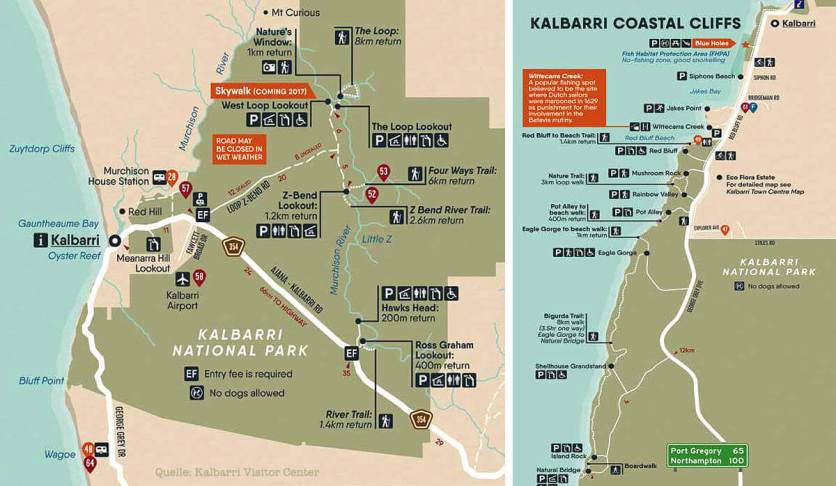 Kalbarri National Park Map