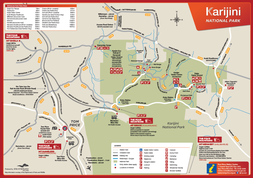 Karijini NP Map