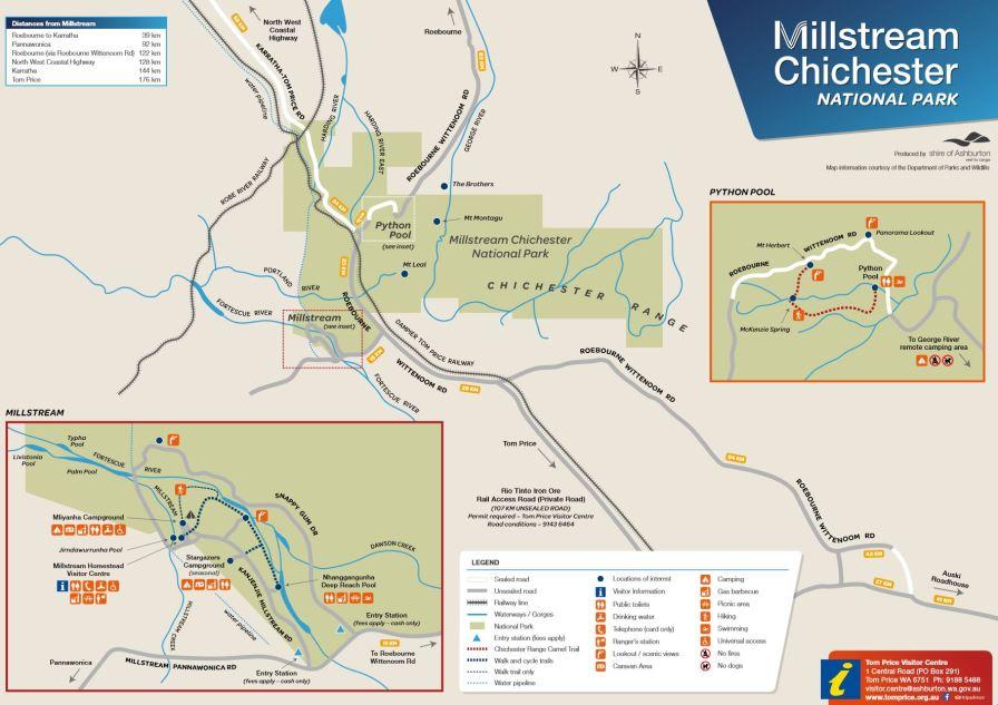 Millstream Chichester NP Map