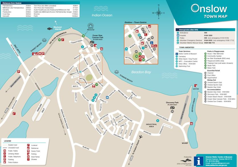 Onslow Town Map