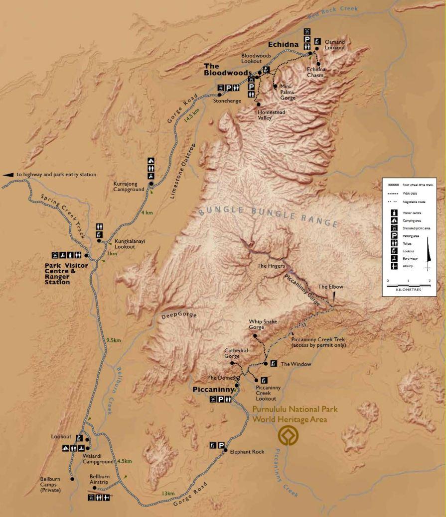 Purnululu NP Map